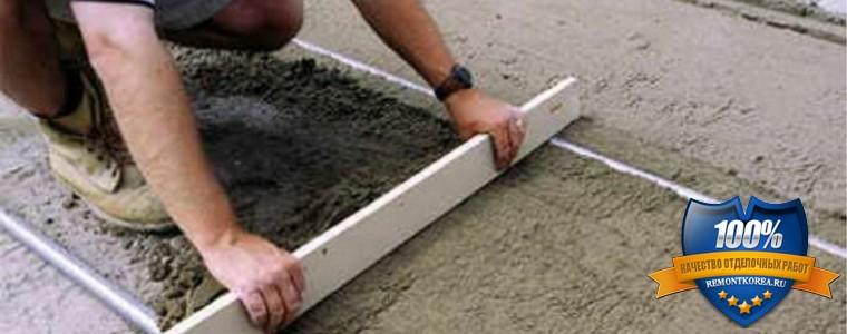 Как сделать стяжку для укладки плитки