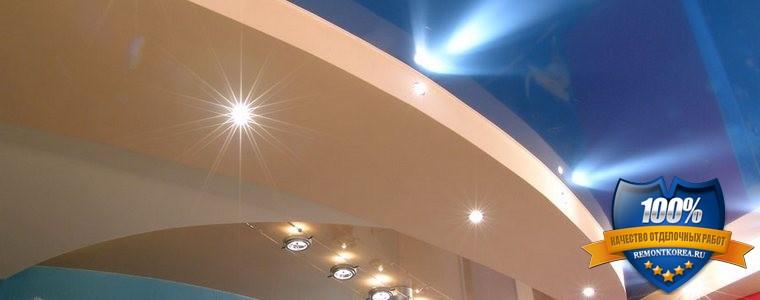 Натяжные потолки из разных материалов