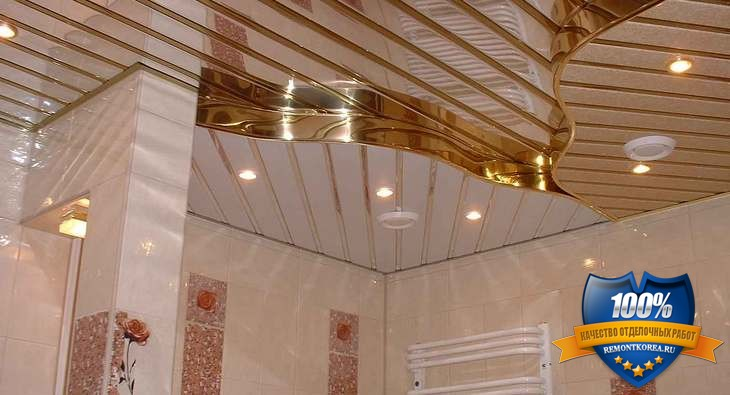 Потолок для ремонта ванной комнаты