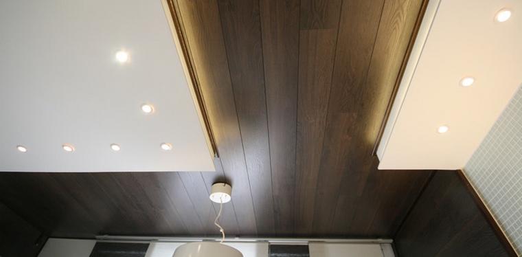 Ламинат на стенах и потолке