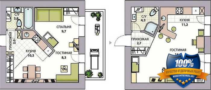 Перепланировка квартиры в городе Владивостоке