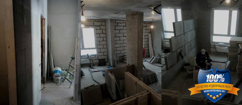 Поэтапный ремонт квартиры в новостройке Владивостока