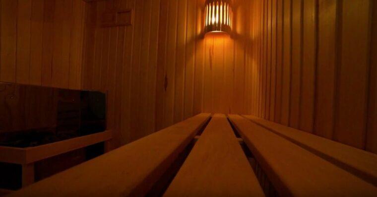 Отделка сауны в фитнес клубе Владивостока