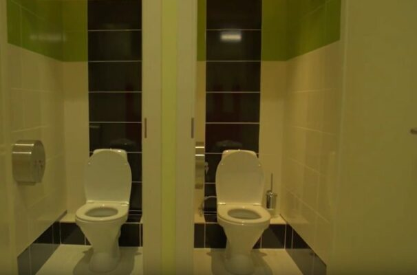 Ремонт туалета в фитнес клубе Владивостока