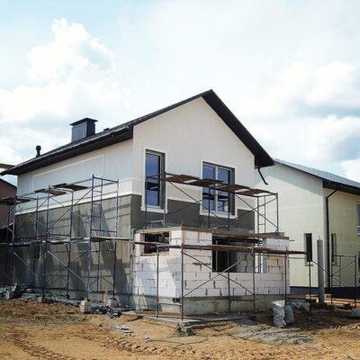 Работы по утеплению фасада дома