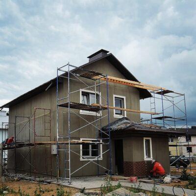 Отделочные фасадные работы дома