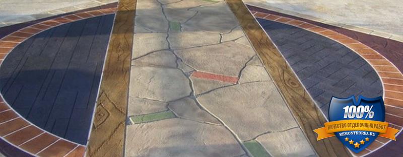 Декоративный бетон для украшения дачных участков
