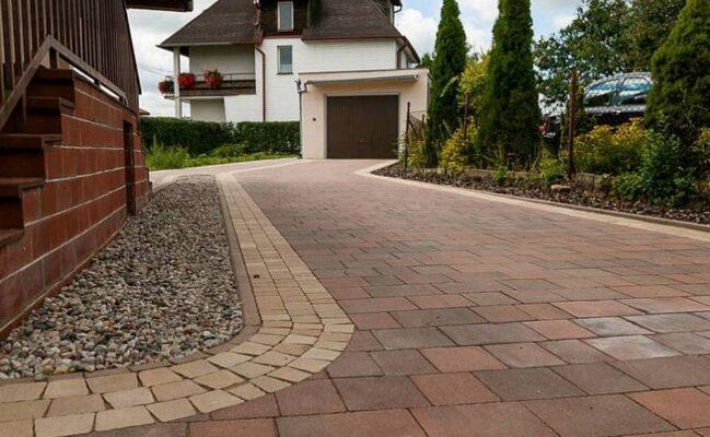 Тротуарная плитка на дачных участках