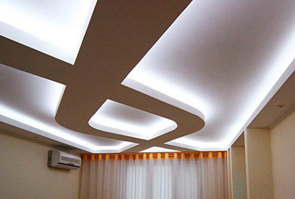Создание подвесных и натяжных потолков из гипсокартона